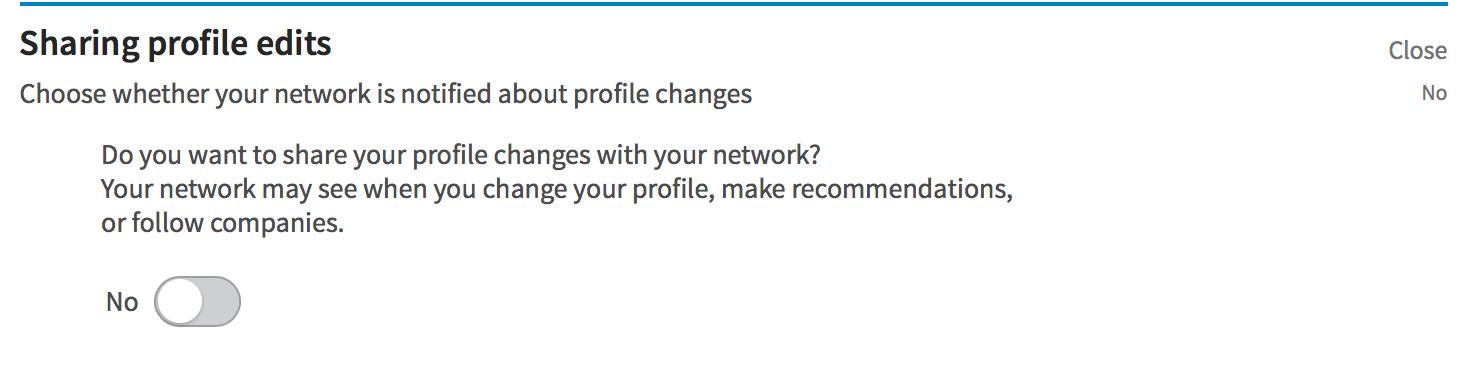 Zeeko - profile update settings