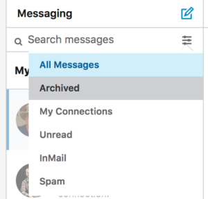 Zeeko - finding archived messages on Linkedin
