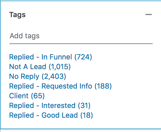 Zeeko - Linkedin Experts - Tagging Example