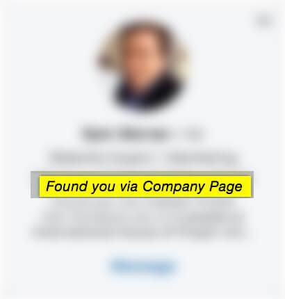 Found you via company page
