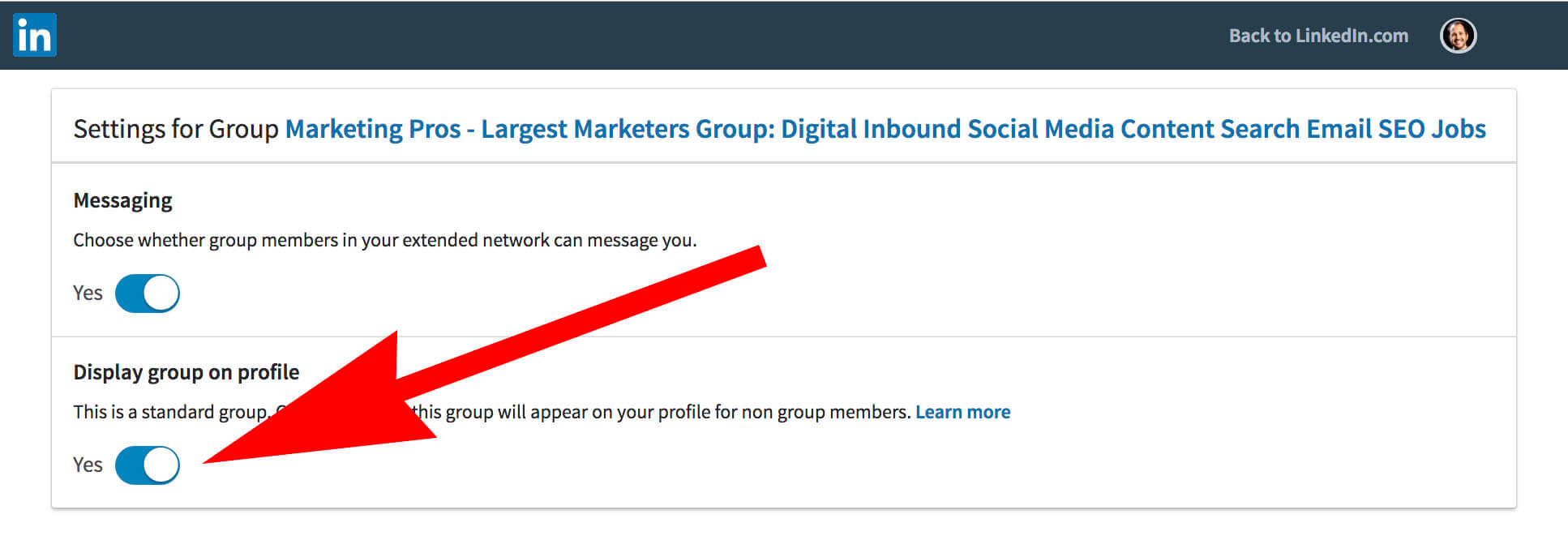 How to update and remove interests on Linkedin - groups on