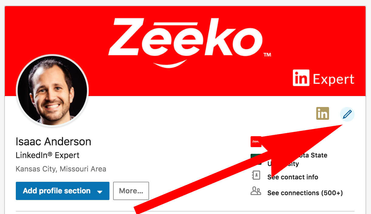 What does the gold symbol on Linkedin mean - profile editing 3