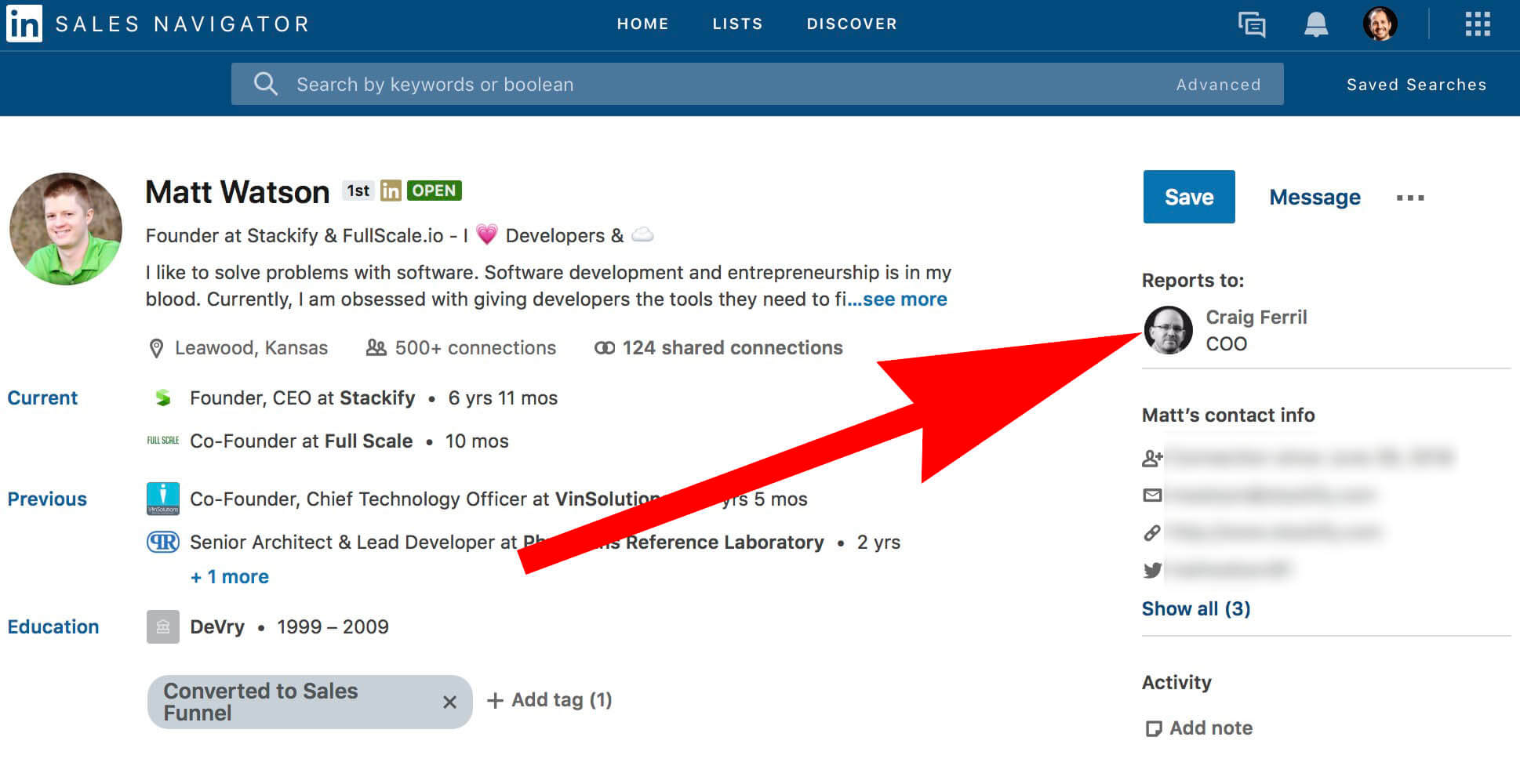 What does add manager and reports to mean on Linkedin - adding manager