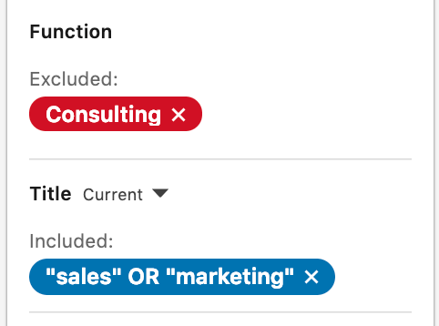 Linkedin - New Linkedin Search Exclusions in Sales Navigator - exclude function include job title