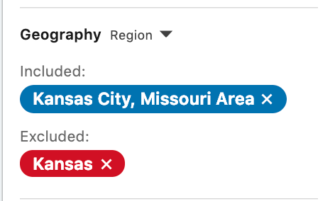 Linkedin - New Linkedin Search Exclusions in Sales Navigator - exclude state when city on state line