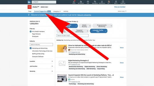 Content Suggestions On Linkedin Company Pages