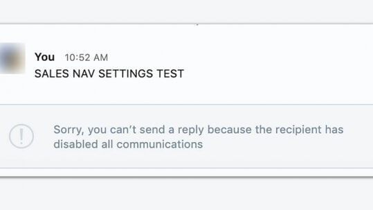 How to message someone if they have communications disabled on Linkedin