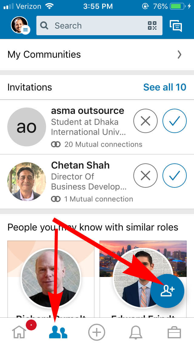 How To Find Your Linkedin QR Code - Go To My Network