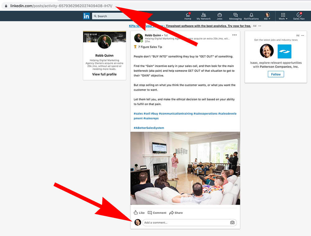 How to comment as your Linkedin Company Page - commenting as personal profile