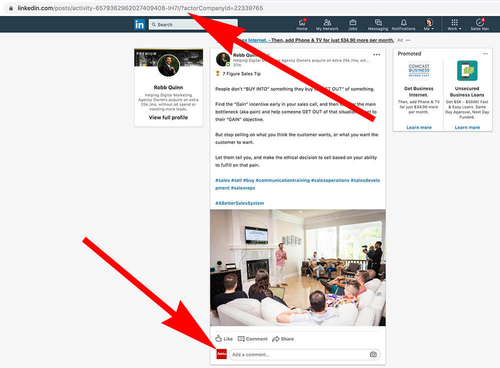 How to comment as your Linkedin Company Page - posting as company page