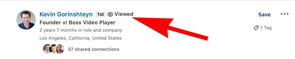 Linkedin Viewed Profile Label