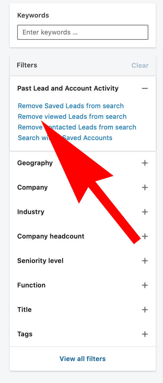 Removed Viewed Profile From Linkedin Search