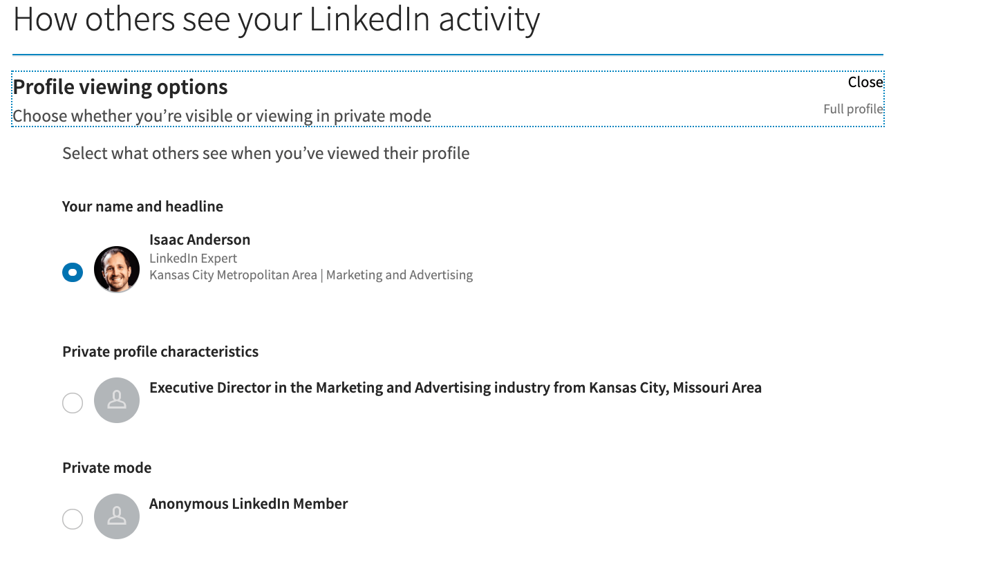 Is There A Way To Stop Linkedin From Telling Someone That I Viewed Their Profile?