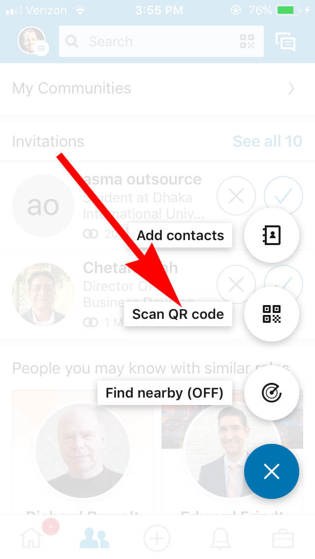 How To Share Your Linkedin QR Code