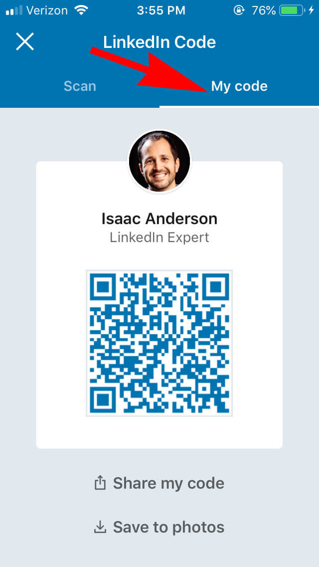 How View Your Linkedin QR