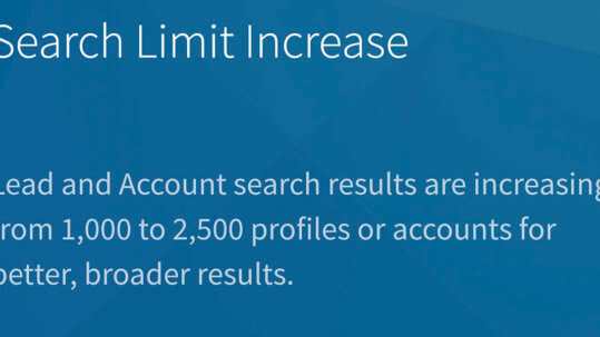 Linkedin Sales Navigator Increasing Search Count From 1,000 to 2,500