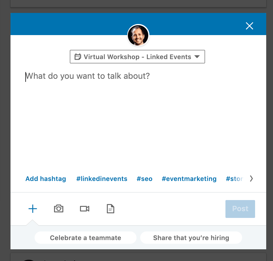 What happens after a Linkedin event expires - you can still add content