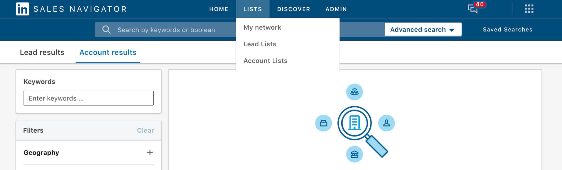 Using Linkedin Custom Lists to create Do Not Contact Templates - view custom account lists