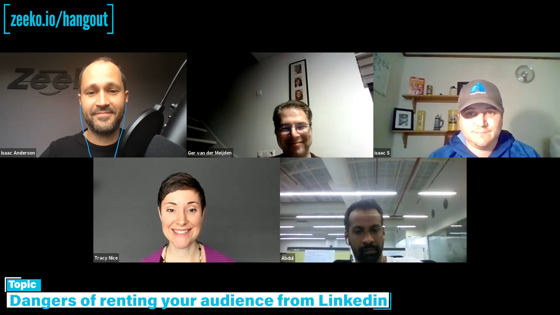 Linkedin Humpday Hangouts - dangers of audience rental and linkedin profile bridges