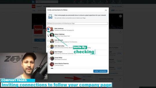 How to invite someone to follow your Linkedin company page