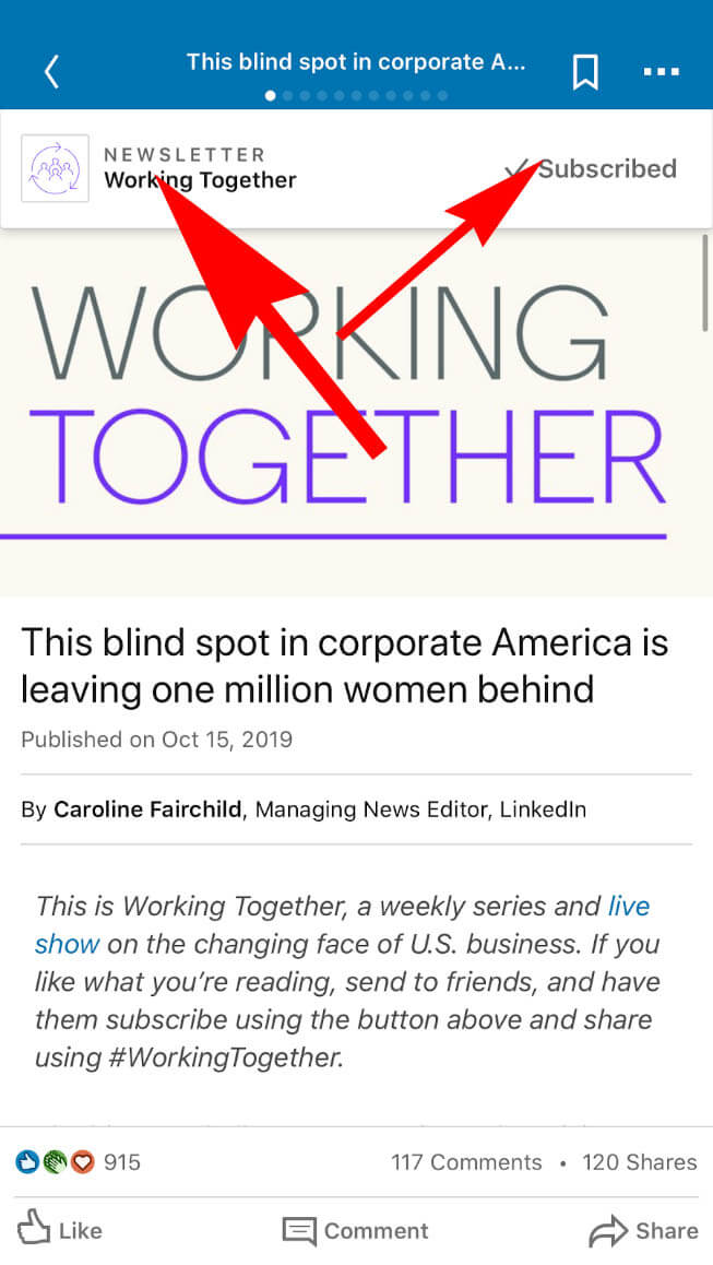 What are Linkedin Newsletters - How to create a Linkedin Newsletter - screenshot example 2