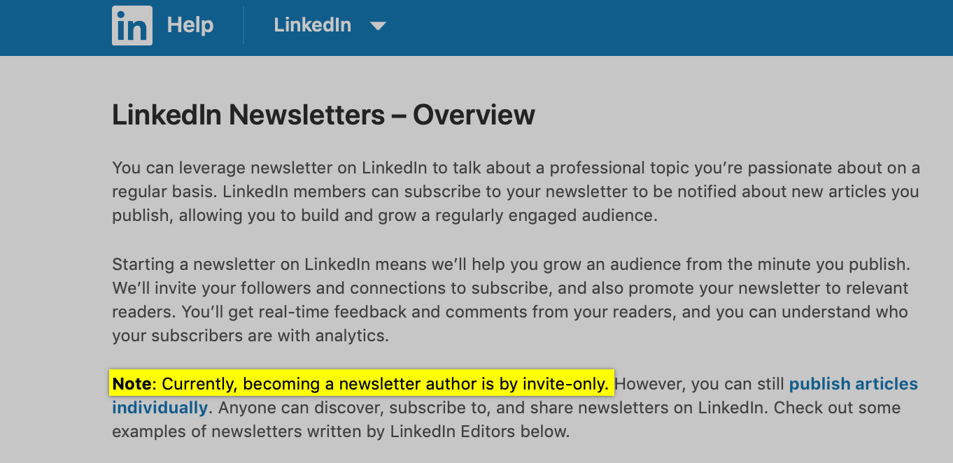 What are Linkedin Newsletters - How to create a Linkedin Newsletter - documentation