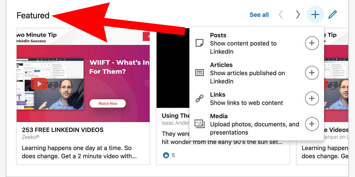 How To Add Featured Content To Your Linkedin Profile