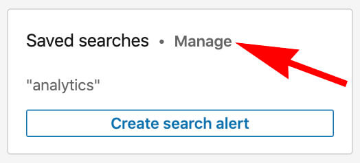 Linkedin How To Save Searches On A Free Linkedin Account - manage saved searches