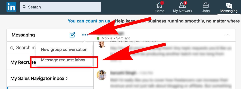 Linkedin Message Request Inbox