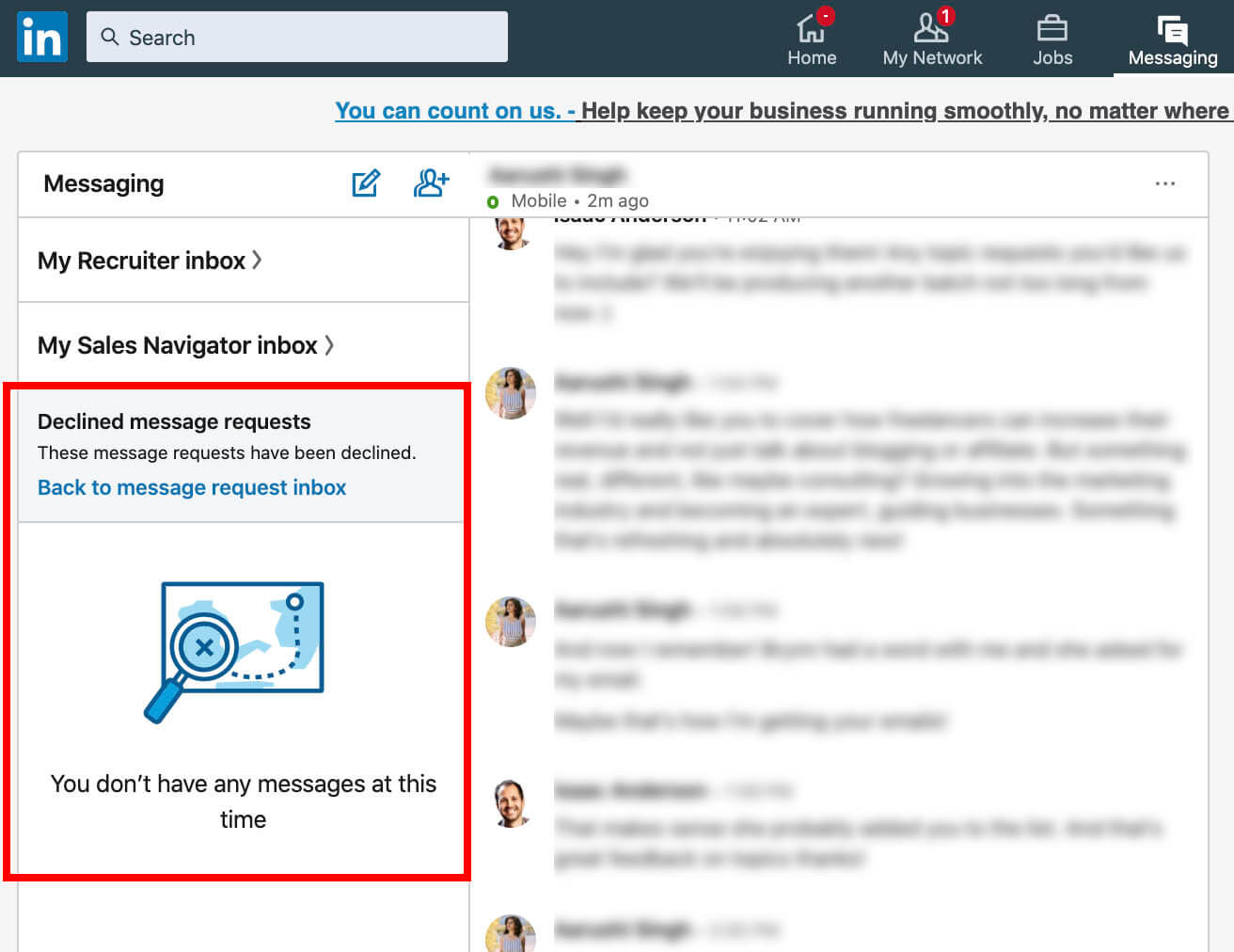 Linkedin Declined Message Request List