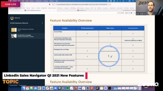 New Features - Linkedin Sales Navigator Q1 2021