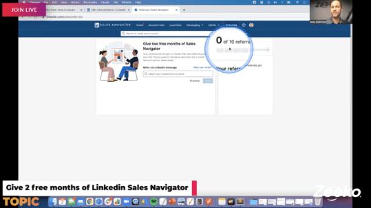 Linkedin Sales Navigator Referral Program - Give 2 Free Months