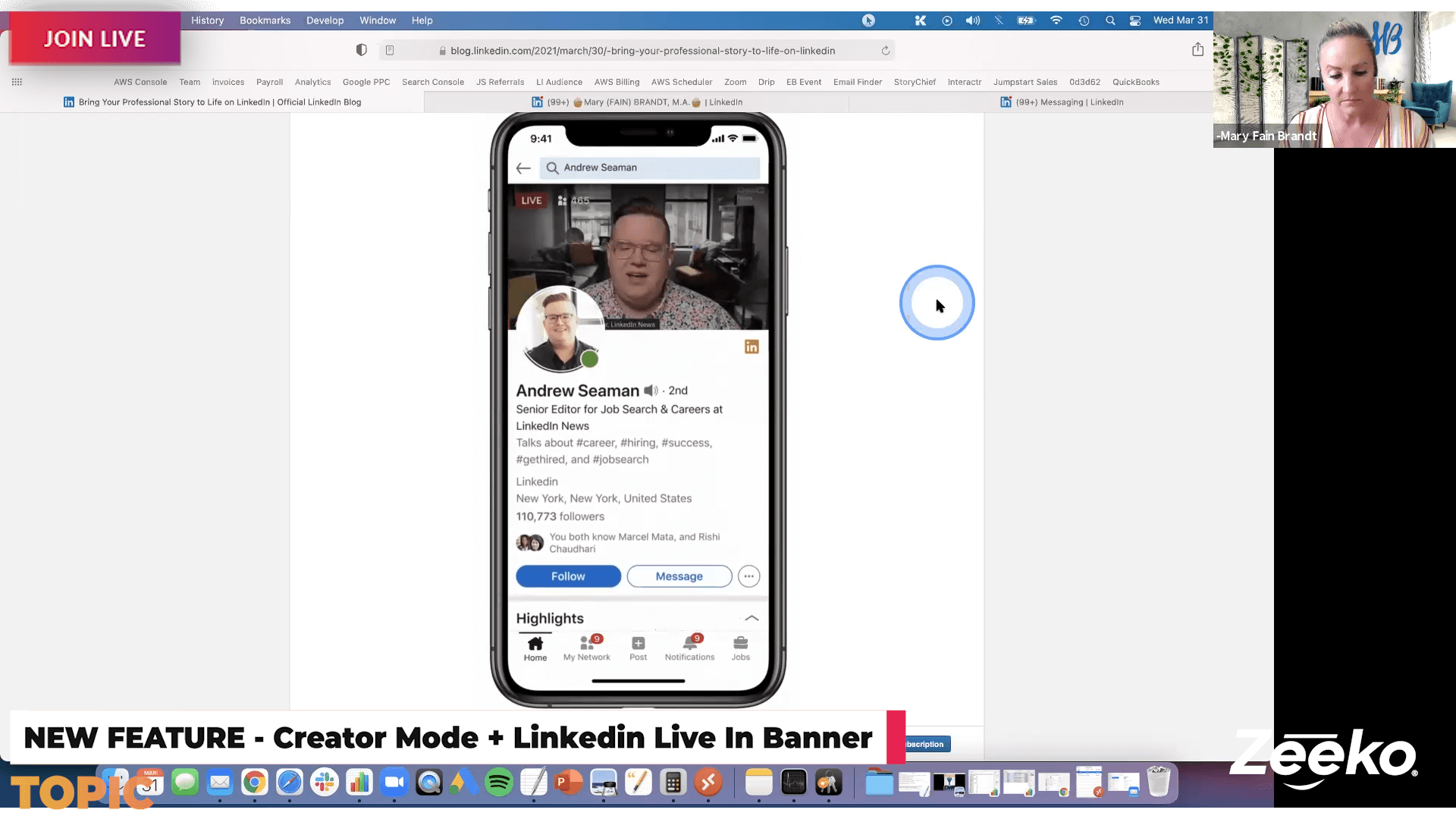 In today's hangout we explored New features announced by Linkedin just yesterday including: - Video introductions on your profile - Live broadcasting on your banner - Creator mode - Service page launch We also spent time revisiting last week's discussion about weekly invite limits.