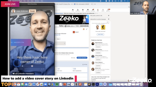 How to add a video cover story on Linkedin