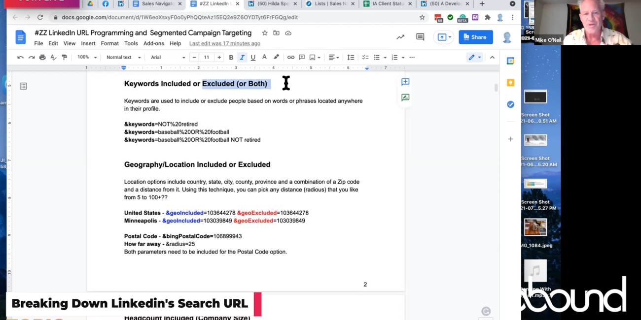 How The Linkedin Search URL Works in Sales Nav